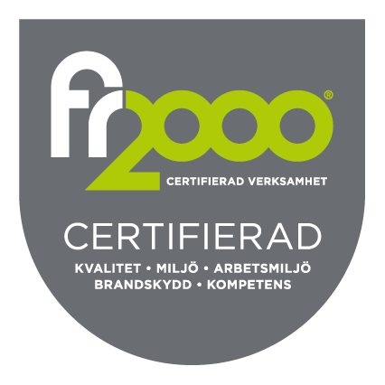 Örebrosotarn FR2000 Certifikat